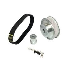 цена на HTD 3M Timing Belt Kit Pulley 3:1 60 Teeth & 20 Teeth Shaft Center Distance+80mm Closed-loop Timing+Length 285mm Width 15mm Belt