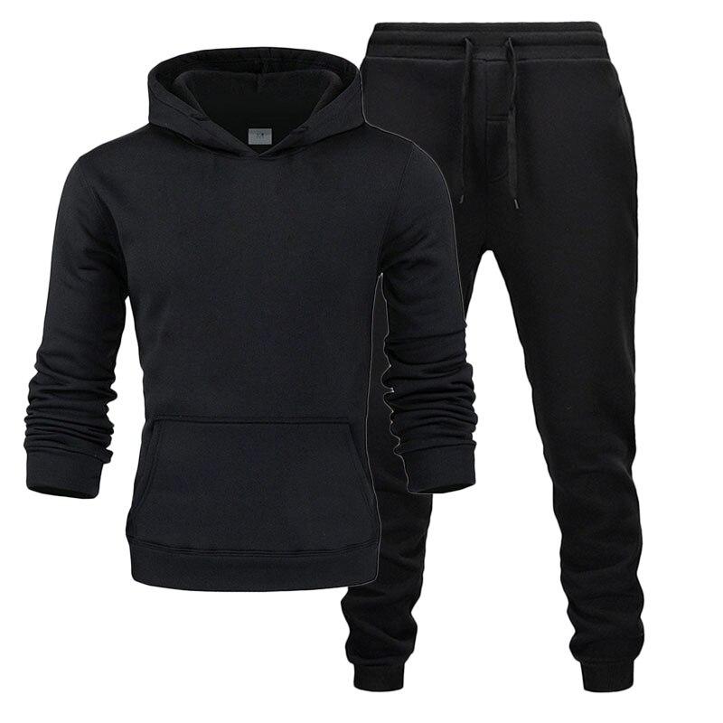 2019 Brand Sporting Suit Men Warm Hooded Tracksuit Track Men's Sportswear Set L Size Sweatsuit Male 2XL Sets