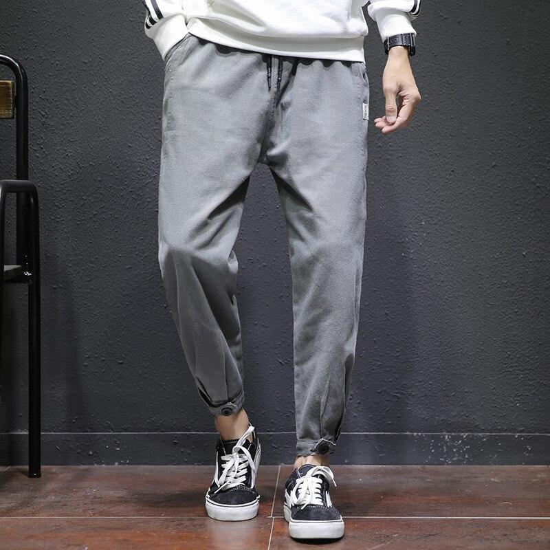 2019 New Style Pants Men's Korean-style Trend Spring And Autumn Popular Brand Loose-Fit Capri Sports Beam Leg Casual MEN'S Overa