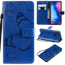 Butterfly Wallet Case For Xiaomi Redmi Note 7 Pro Cover Flip TPU Leather Book on Red mi 7S Cases