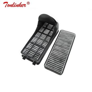 Dla 2 sztuk filtr węglowy powietrza dla volkswagena 2011-2019 Polo GOL Audi A1 8X Skoda Fabia Rapid Roomster filtr zewnętrzny zespoły tanie i dobre opinie tonlinker External 25mm 217mm Activated carbon 0 3kg 84mm 6R0815479 China