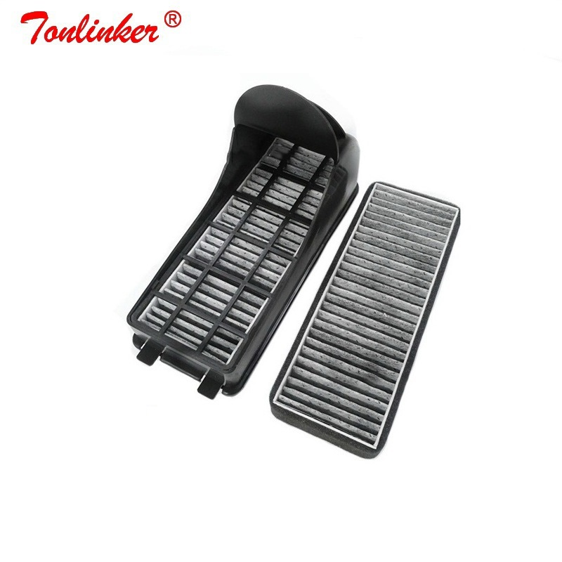 Dla 2 sztuk filtr węglowy powietrza dla volkswagena 2011-2019 Polo GOL/Audi A1 8X/Skoda Fabia Rapid Roomster filtr zewnętrzny zespoły
