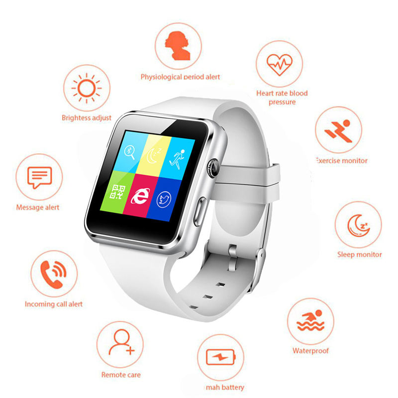 Smart-Watch Support Whatsapp Top with Bluetooth Touch-Screen SIM Tf-Card X6 for iPhone