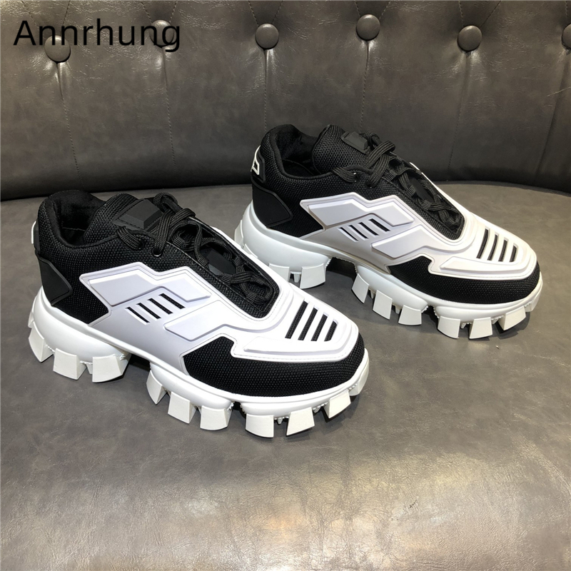 Fashion 2020 Spring Mixed Color Casual Shoes Men Lace Up Patchwork Air Mesh Breathable Trainer Shoes Lover Style Sneakers