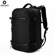 OZUKO Men's Backpack USB 17.3Inch Laptop Backpack School bag Large Capacity Travel Backpack Multi-functional Casual Male Mochila