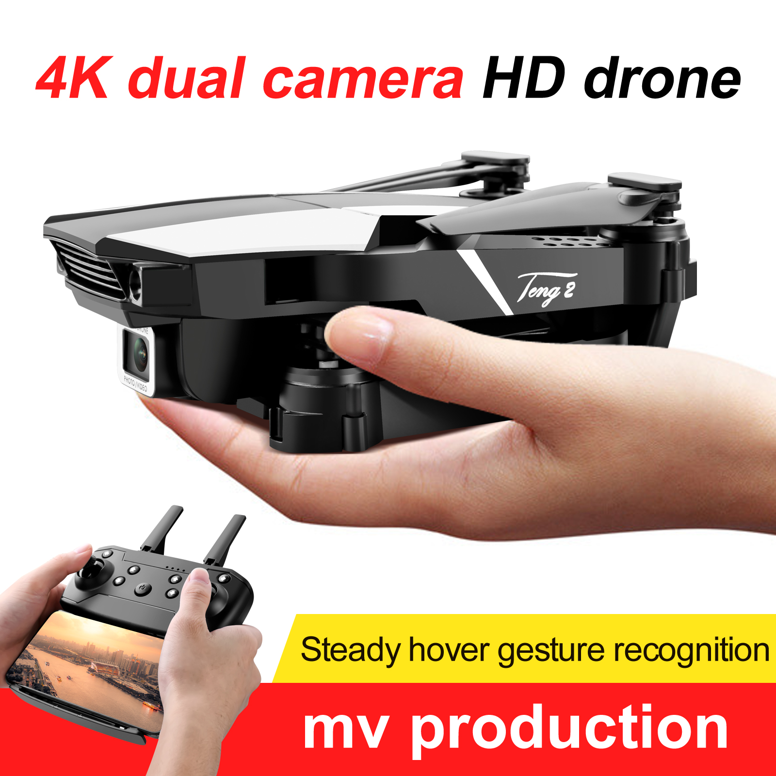 New S62 Rc Drone 4k HD Wide Angle Camera 1080P WiFi fpv Drone Dual Camera Quadcopter Real-time transmission Helicopter Toys
