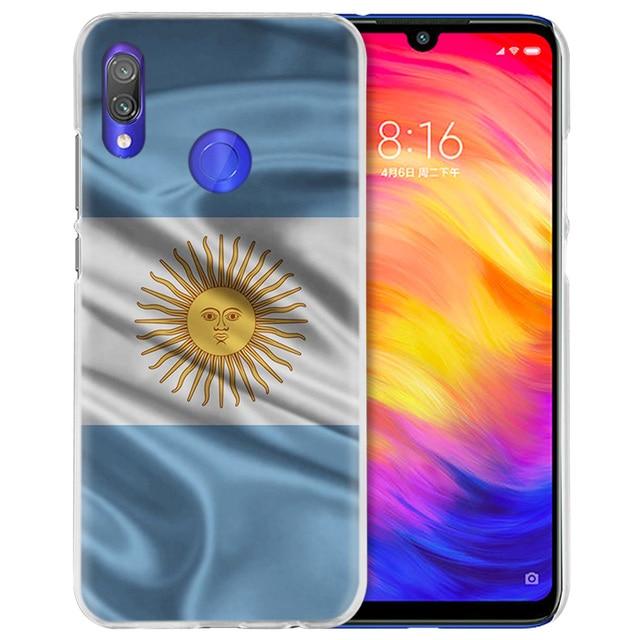 Argentina bandera para Xiaomi rojo mi nota 7 8 K20 8A 7A 6 6A mi jugar 9 Pro 5G 9T CC9 E A3 A1 A2 Lite F1 teléfono duro Coque bolsa