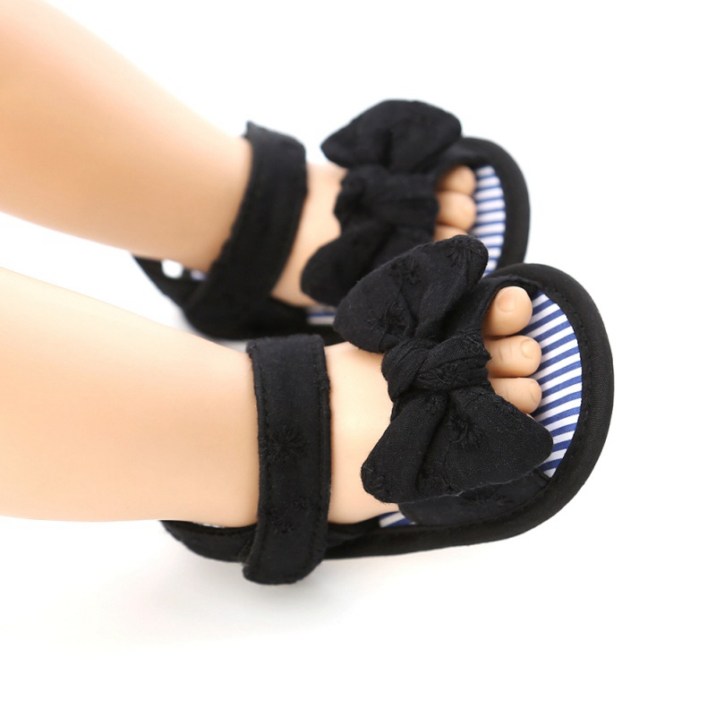 Non-Slip Baby Girls Shoes Newborn Girls Bowknot Sandals Toddlers Newborn Infantil Sandals Clogs