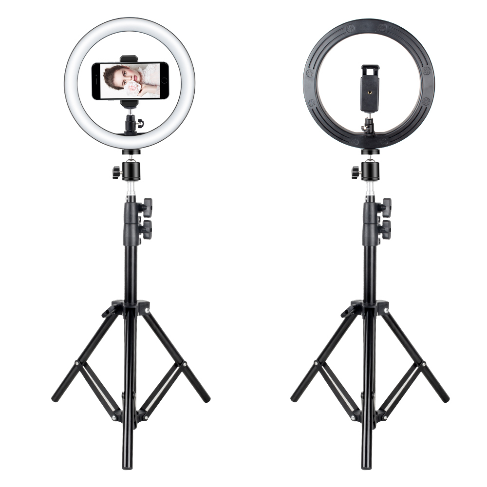 "Image 2 - LED Ring Light 2700K 5500K 12W Photo Studio 10"" Flash Light Photography Dimmable Lights Video for Smartphone with Tripod-in Novelty Lighting from Lights & Lighting"
