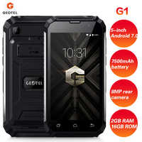GEOTEL G1 3G Smartphone 5 Zoll 2GB RAM 16GB ROM 4-core Android 7.0 1,3 GHz 7500mAh Wasserdicht Ladegerät Handy