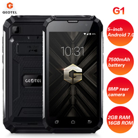 GEOTEL G1 3G Smartphone 5 Inch 2GB RAM 16GB ROM 4 core Android 7.0 1.3GHz 7500mAh Waterproof Charger Mobile Phone