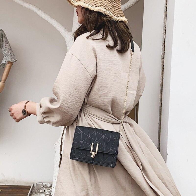 Women Fashion Shoulder Messenger Bags Ladies Geometric Plaid Crossbody Handbag Female Mini Flap Bag New Korean Style Tote SS0425 (7)