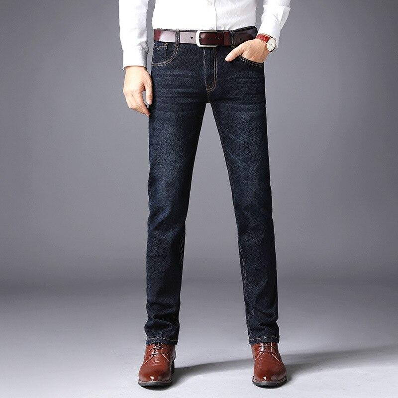 Spring And Autumn New Style Korean-style Men's Wear Straight Slim Men's Jeans Elasticity Youth Business Medium Waist Washing Jea