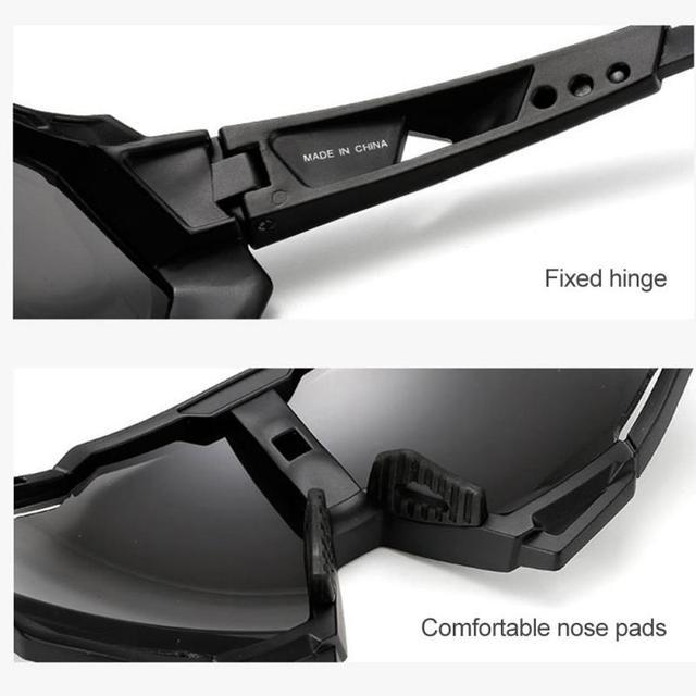 Prova e computador à prova de explosão profissional polarizado óculos de ciclismo óculos de bicicleta esportes ao ar livre óculos de sol uv 5