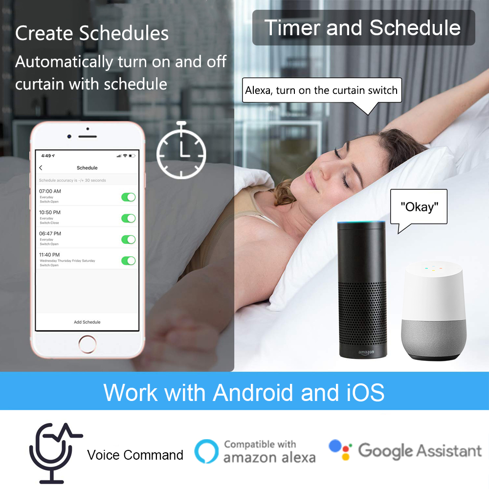 cheapest Tuya Smart Life WiFi Blind Curtain Switch with Remote for Electric Roller Shutter Sunscreen Google Home Amazon Alexa Smart Home