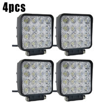 48W Led Verlichting 12V 24V Lamp Spotlight Voor Offroad Truck Auto 3, 520LM 16*3 W Hoge Intensiteit Led(China)