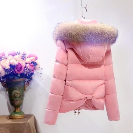 New Arrival Winter Coat For Women Short Hooded Parkas Natural Raccoon Fur Duck Down Jackets Women Plus Size LX348