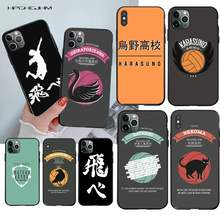 Haikyuu!! Karasuno Nekoma Crest DIY Mewah untuk iPhone 11 Pro XS MAX 8 7 6 6S Plus X 5S SE 2020 XR Case(China)