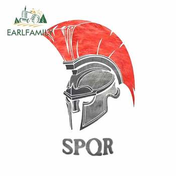 EARLFAMILY 13cm x 9cm for SPQR Rome Spartan Creative Car Sticker Personality Decal Suitable for All Types of Vehicles DIY image