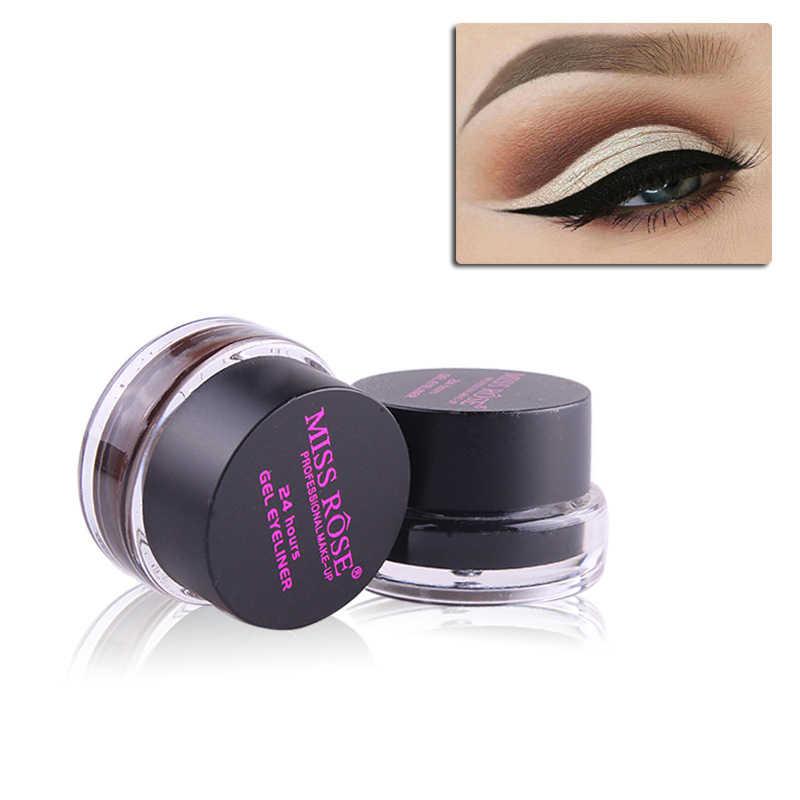 2 cores/set New Brown Black Suave Waterproof Eye Liner Delineador Gel Creme 24 Horas de Longa Duração Cosméticos Pigmento ferramenta TSLM2