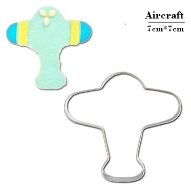 Us 1 12 51 Off New Airplane Ship And Train Cookie Tools Cake Stencil Kitchen Cupcake Decoration Template Mold Cookie Coffee Stencil Mold Baking On