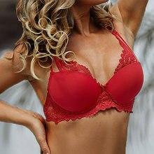 Soutien-gorge en dentelle pour femmes, sous-vêtements, beauté avant, Push-Up, Sexy, Lingerie, Bralette florale, soutien-gorge