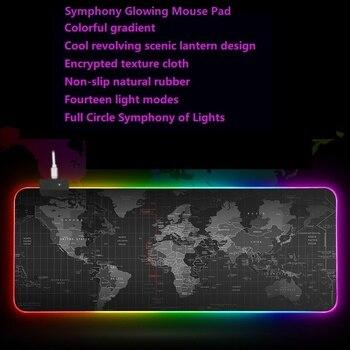 цена Large Mouse Pad Gaming Mouse Pad Computer Mousepad Gamer RGB World Map Big Mouse Carpet Mat онлайн в 2017 году