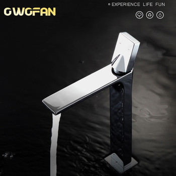OWOFAN Basin Cold and Hot Water Faucet Black Mixer Tap Bathroom Elegant Water Tap Mixer Faucet Deck Mounted Basin Faucet S79-315 free shipping newly deck mounted dual handles hot and cold control water faucet bathtub basin mixer tap home improvement gi729