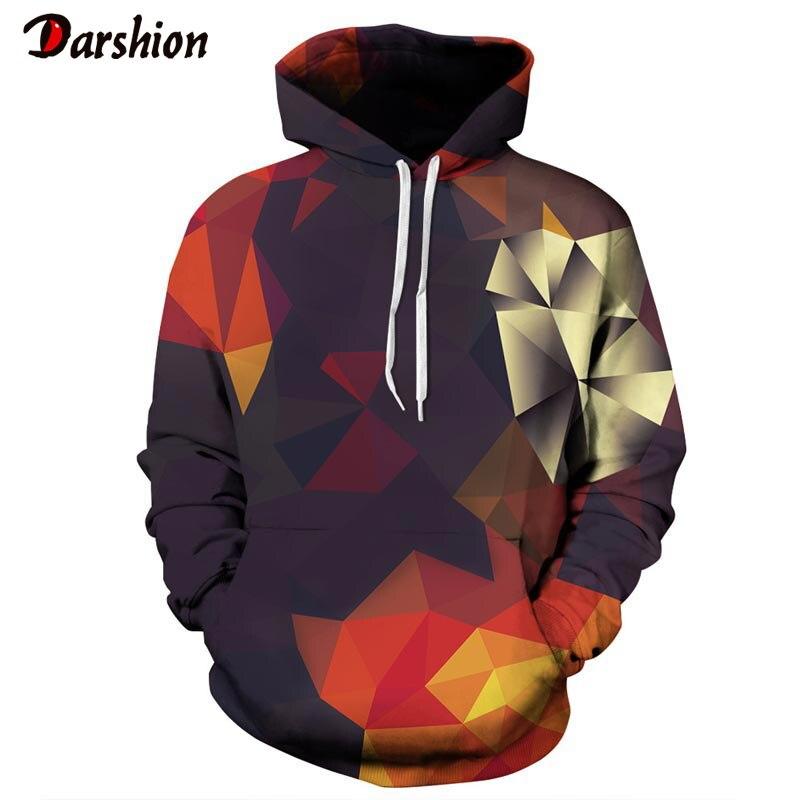 Brand Hoodies Men Hip Hop Hoodies 2019 Long Sleeve Autumn Winter Geometric 3D Hoodies Tops Casual Pullovers Sweatshirt Dropship