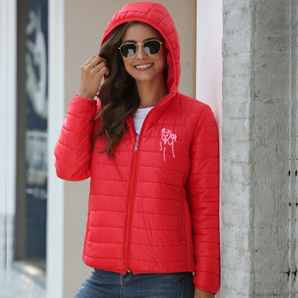 LUCKYFRIDAY 1 Lil Pee Popular Winter Jacket Women Plus Size Womens Outerwear Solid Hooded Coats Female Slim Cotton