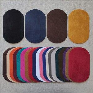 Накладки для одежды из искусственной кожи с пряжкой для стикеров в полоску, железные кожаные брюки с аппликацией на колено, свитер, налокотн...