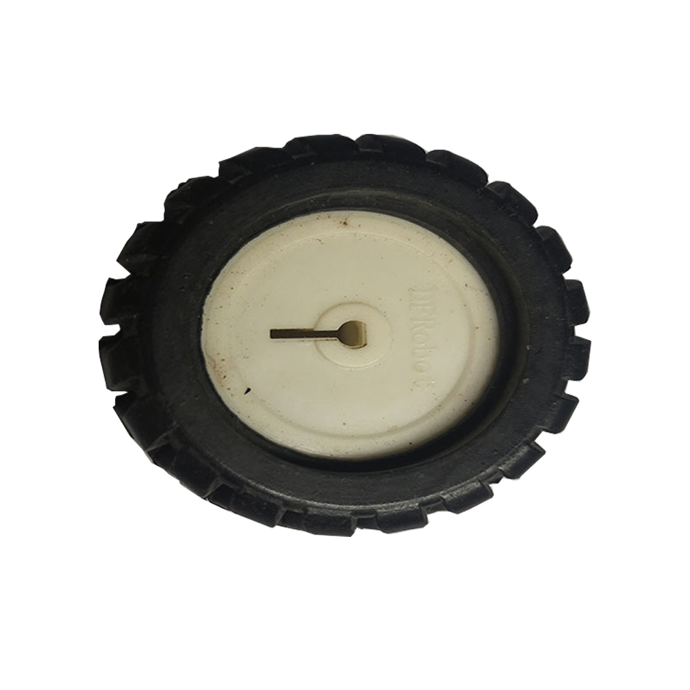 D Axle Rubber Tire Robot Accessories 43MM Tracking RC Car Wheel Gear Model For N20 Reducer Motor