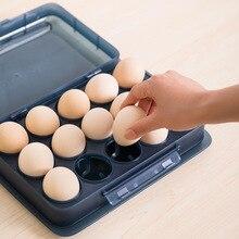 15 Eggs Holder Eggs Storage Box Preservation Dispencer Refrigerator Food Storage Box Container Space-saving Eggs Boxes Organizer strange eggs