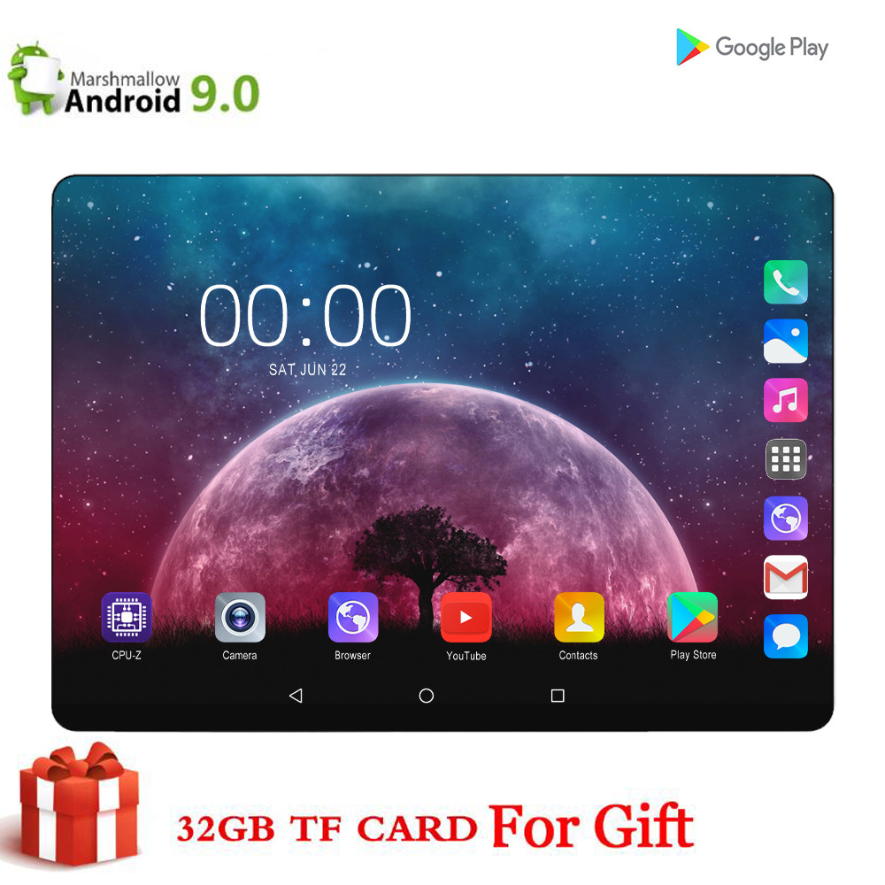 CARBAYTA CP9 64GB ( 32GB +32GB Card ) Bluetooth Wifi Phablet Android 9.0 10.1 Inch Tablet Dual SIM Card 2.5D Tablet 9 10 CE Band