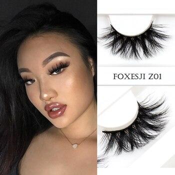 FOXESJI Mink Eyelashes Makeup 5D Mink Lashes Thick Cross Volume Fluffy Cruelty free Eye Lashes Dramatic False Eyelashes Eyelash недорого