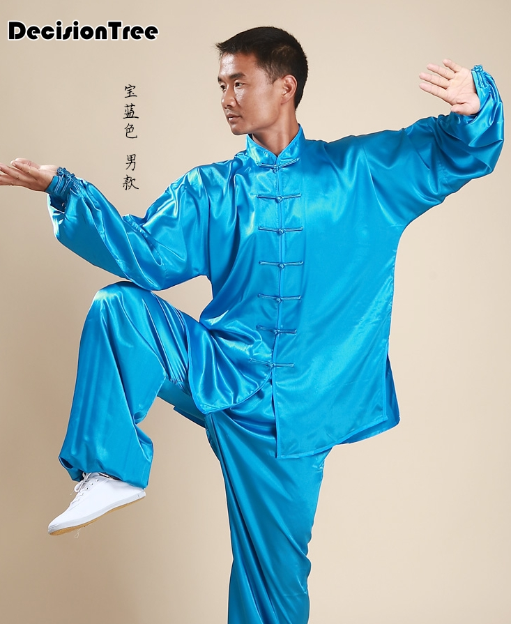 2019 Jiu Jitsu Tai Chi Suit Chinese Kung Fu Costume Women Men Wushu Uniform Suit Martial Arts Performance Uniform Sets