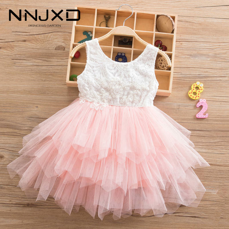 Summer Beading Girl Dress 2019 White Backless Girls Teenage Princess Dress Irregular Tutu 2 6 Years Pink Children Dresses Pink|Dresses|   - AliExpress