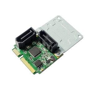 ASM1061 Chipset Mini PCI Express naar 2-poort SATA3.0 Uitbreidingskaart Ondersteuning SATA HDD SSD