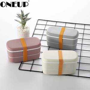 ONEUP Lunch-Box Chopsticks Compartments Food-Container Microwavable 2layer Leakproof