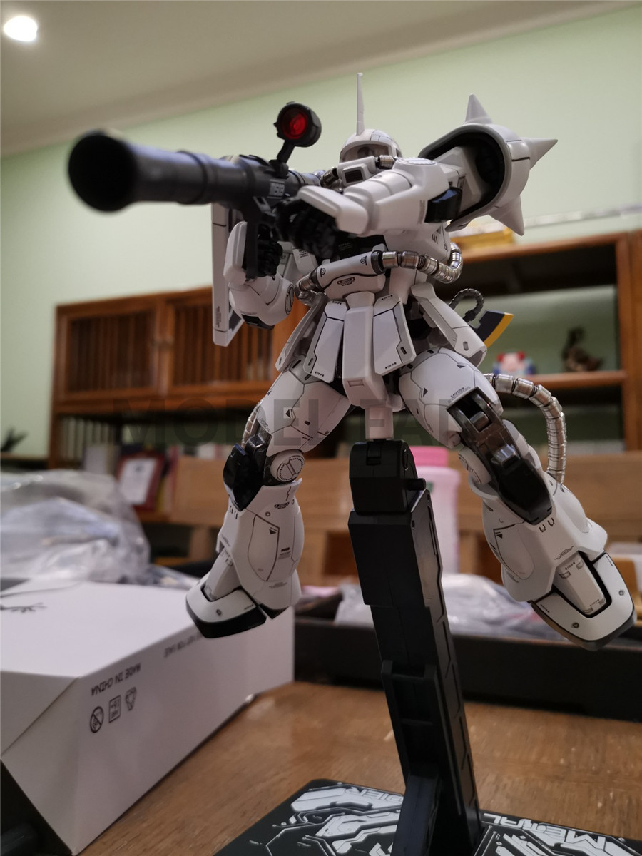 Image 3 - MODEL FANS in stock METAL SOLDIER metal build  MB gundam 1/100 WHITE WOLF zaku II alloy robot action figureAction & Toy Figures   -