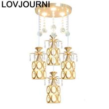 Para Quarto Touw Nordic Modern Lustre Lampara Loft Luminaria Crystal Light Suspension Luminaire Hanging Lamp Hanglamp