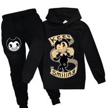 Bendy and The Ink Machine Kids Clothes Set for Boys Outfits Children's Hoodies Baby Sweatshirt Clothes T-shirts+Pants Clothing