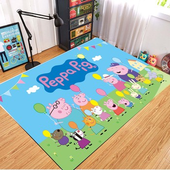Peppa Pig Anti-slip Flannel Mat Peppa Door Mat Kid Room 3D Cartoon Floor Mat Washable Kitchen Bathroom Carpet Christmas Gift 12