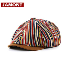 Octagonal-Hat Newsboy-Cap Painter Retro JAMONT Casual for Men Casquette Male Gorras