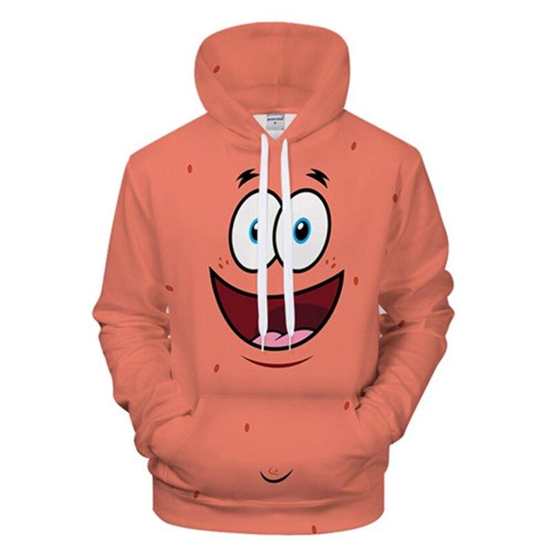 Spongebob 3d Print Hoodies Fashion Men Harajuku Funny Sweatshirts Streetwear Hip Hop Quality Plus Size Autumn Winter Clothes