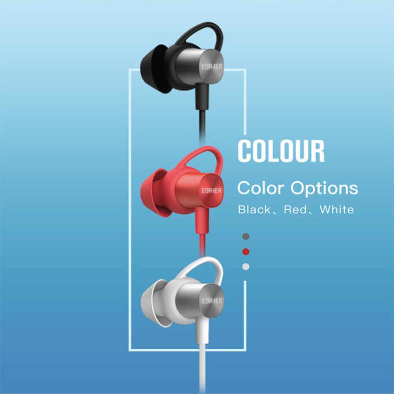 EDIFIER W310BT słuchawki Bluetooth bezprzewodowy zestaw słuchawkowy Bluetooth 4.2 douszne słuchawki stereo miękki materiał IPX5 z mikrofonem dla sportu