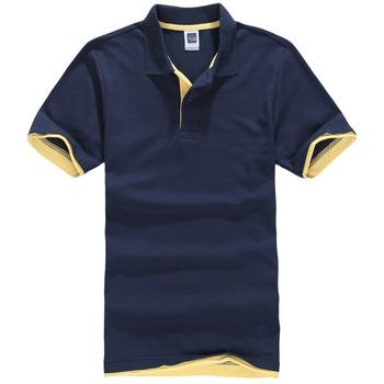 Koszulki Polo męskie koszulki Polo męskie koszulki z krótkim rękawem bawełniane koszulki koszulki bawełniane Plus rozmiar XS-3XL stójka w stylu Casual topy tanie i dobre opinie Anglia styl Szczupła NONE Stałe COTTON Anti-shrink