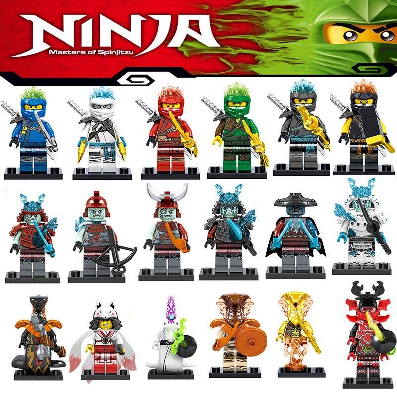 Single Sale 2019 New Ninja Heroes Building Blocks Lloyd Jay Nya Cole Bricks Figures Legoinglys Ninjagoingly Minifigured Kid Toys