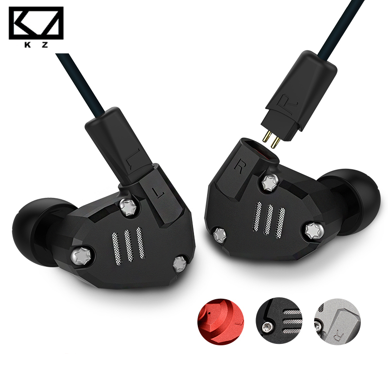 Original KZ ZS6 2DD+2BA Hybrid In Ear Earphone HIFI DJ Monito Running Sport Earphone Earplug Headset Earbud Metal Earphone image