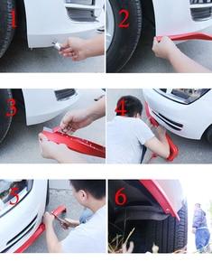 Image 5 - 2.5m zderzak samochodu Lip Strip Protectors Splitter Body zestawy Spoiler zderzaki drzwi samochodu zderzak z włókna węglowego gumowa warga 65mm szerokość taśmy